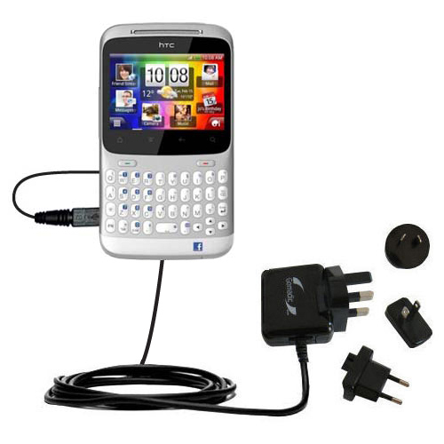 International Wall Charger compatible with the HTC ChaCha