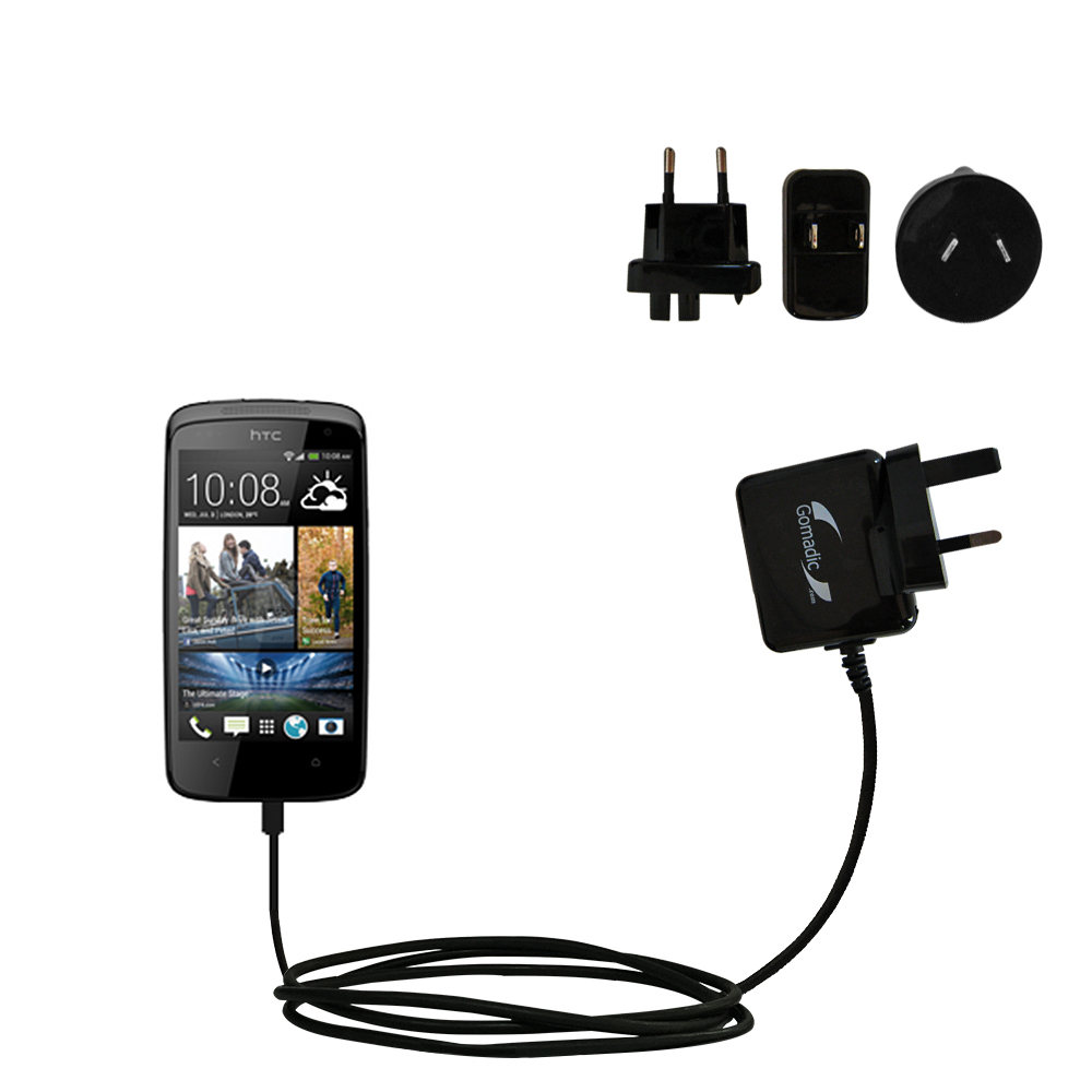 International Wall Charger compatible with the HTC Desire 500