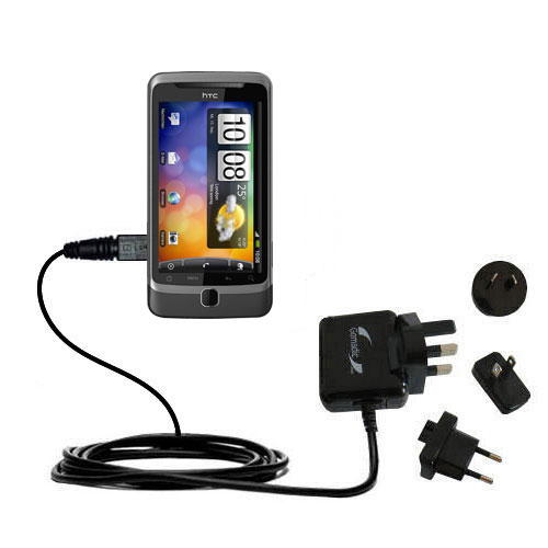 International Wall Charger compatible with the HTC Desire Z