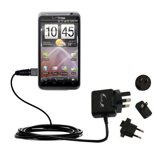 International Wall Charger compatible with the HTC Droid Thunderbolt