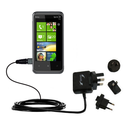 International Wall Charger compatible with the HTC Eternity