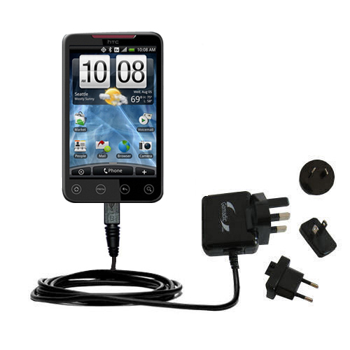 International Wall Charger compatible with the HTC EVO 4G