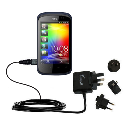 International Wall Charger compatible with the HTC Explorer