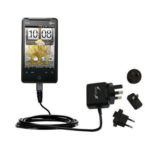 International Wall Charger compatible with the HTC Gratia