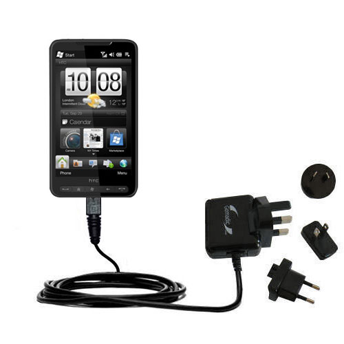 International Wall Charger compatible with the HTC HD3