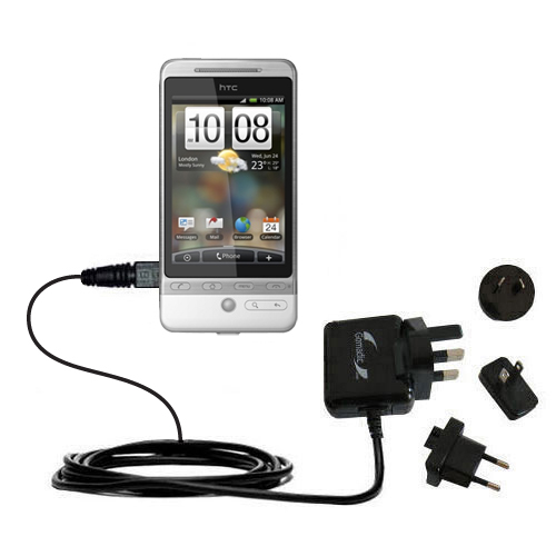 International Wall Charger compatible with the HTC Hero 4G