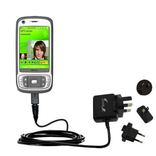 International Wall Charger compatible with the HTC Kaiser