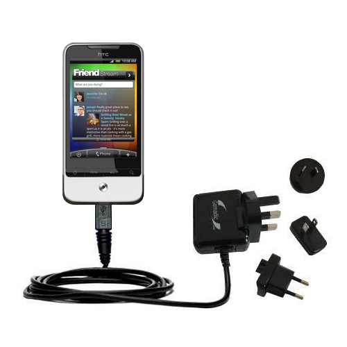 International Wall Charger compatible with the HTC Legend