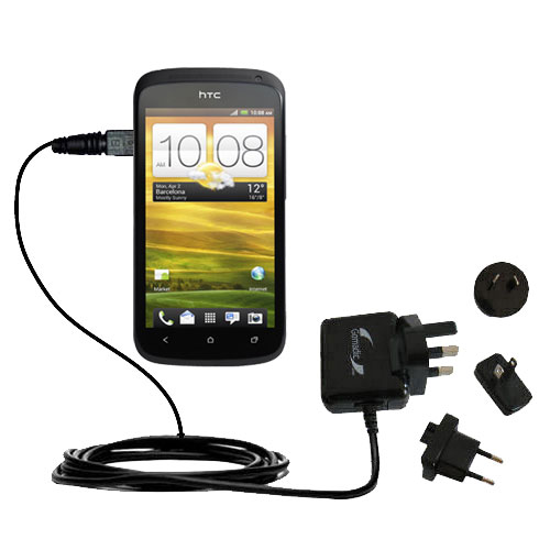 International Wall Charger compatible with the HTC One S / Ville