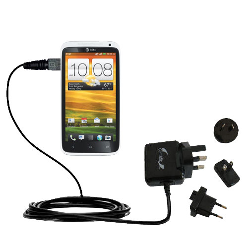 International Wall Charger compatible with the HTC One X