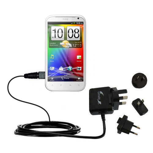 International Wall Charger compatible with the HTC Runnymede
