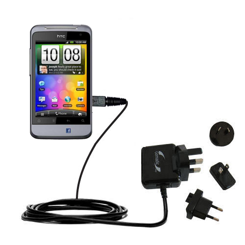 International Wall Charger compatible with the HTC Salsa