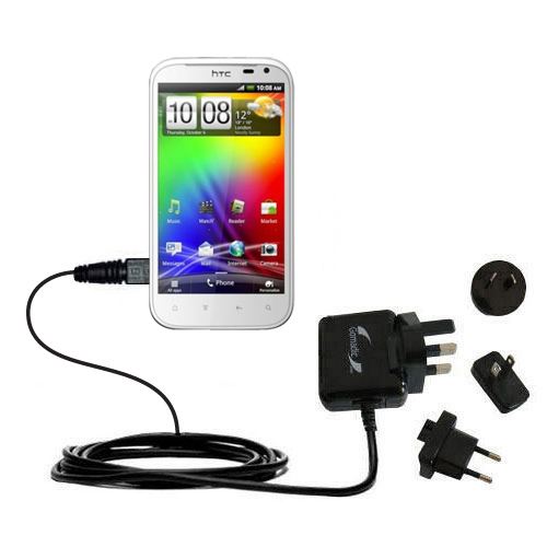 International Wall Charger compatible with the HTC Sensation XL
