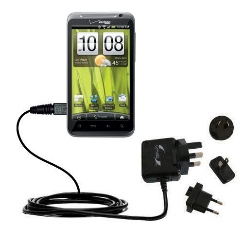 International Wall Charger compatible with the HTC Thunderbolt