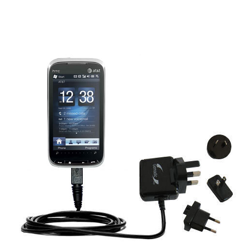 International Wall Charger compatible with the HTC Tilt2