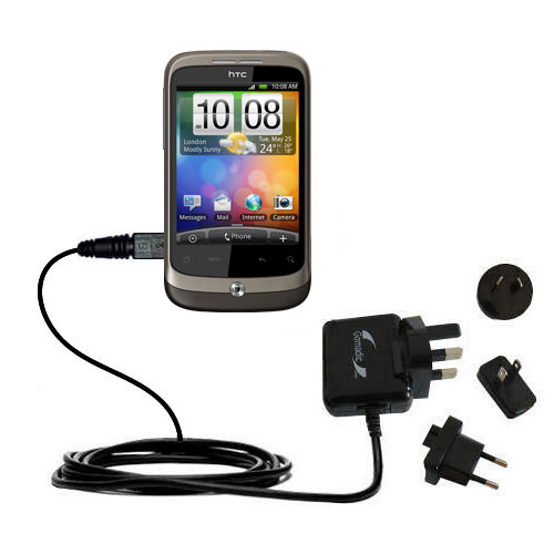 International Wall Charger compatible with the HTC Wildfire
