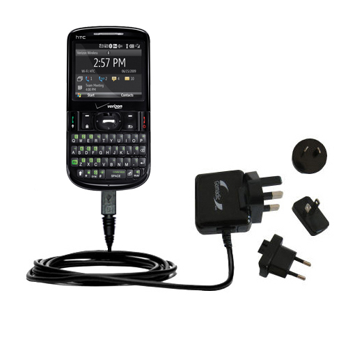 International Wall Charger compatible with the HTC XV6175