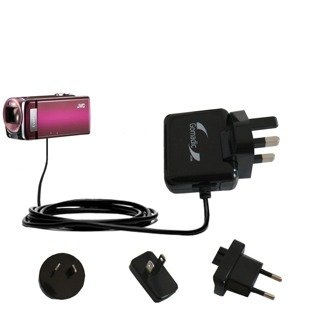 International Wall Charger compatible with the JVC Everio GZ-HM880 / HM890