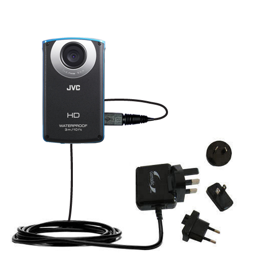 International Wall Charger compatible with the JVC GC-WP10 Waterproof Camera
