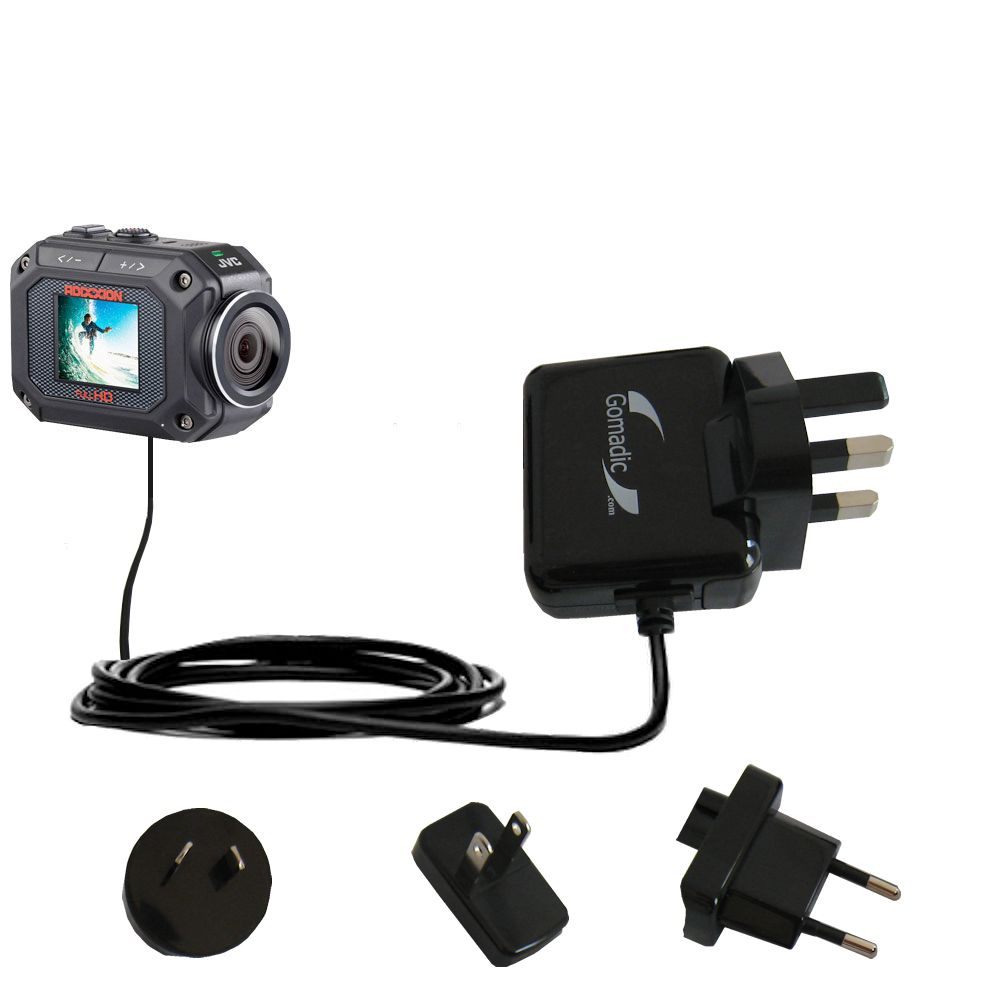 International Wall Charger compatible with the JVC GC-XA2 Action Camera