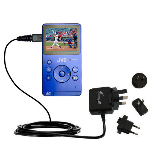 International Wall Charger compatible with the JVC Picsio GC-FM1 Pocket  Video Camera