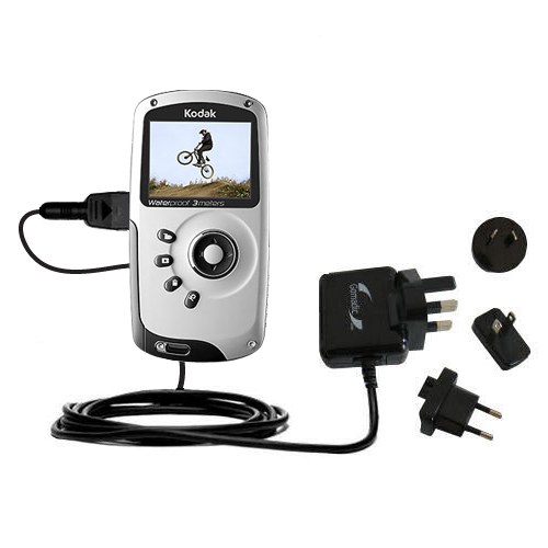 International Wall Charger compatible with the Kodak PlaySport Pocket Video Camera