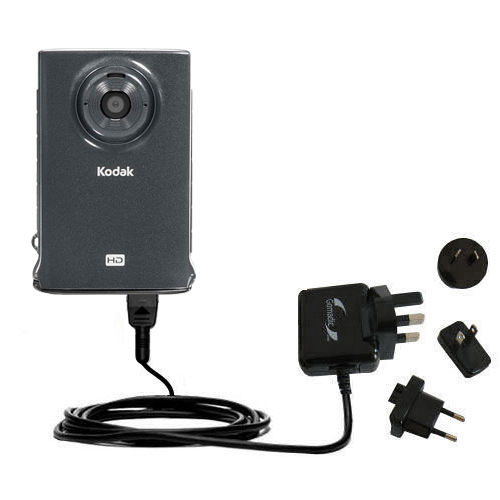 International Wall Charger compatible with the Kodak Zm2 Mini Video Camera