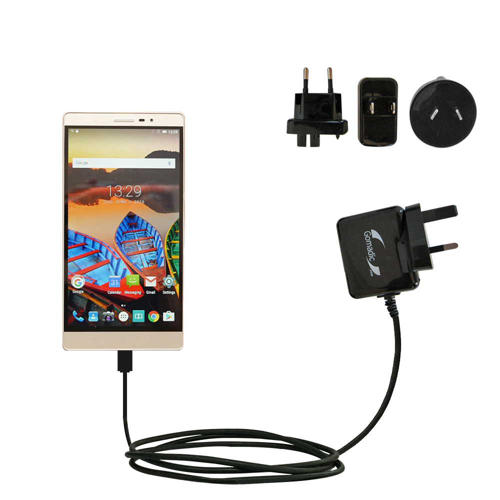 International Wall Charger compatible with the Lenovo PHAB 2 Pro