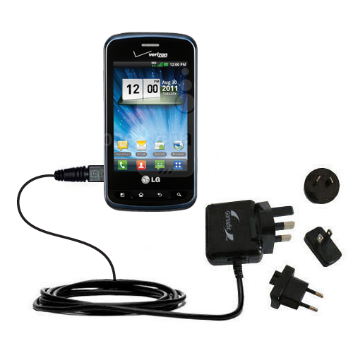 International Wall Charger compatible with the LG Enlighten