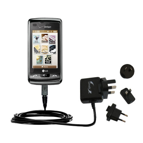 International Wall Charger compatible with the LG enV Touch