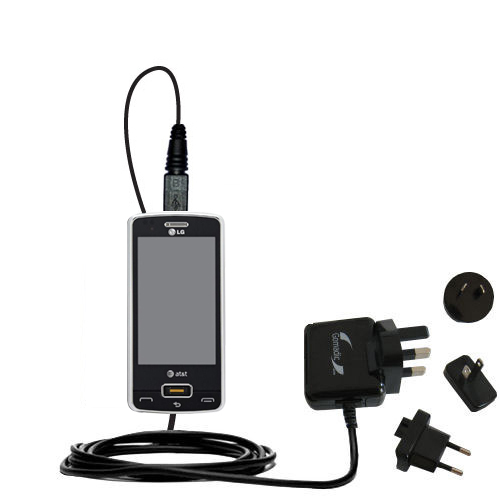 International Wall Charger compatible with the LG GW820 eXpo