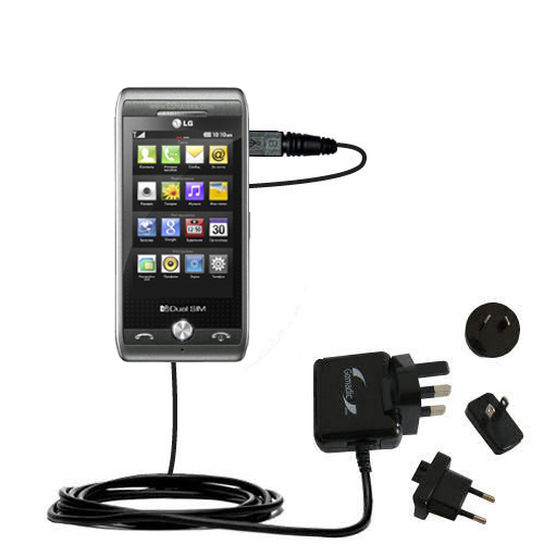 International Wall Charger compatible with the LG GX500