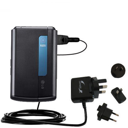 International Wall Charger compatible with the LG HB620T DVB-T