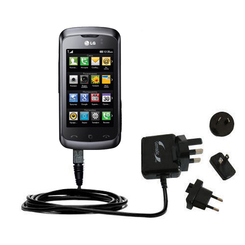 International Wall Charger compatible with the LG KM555E