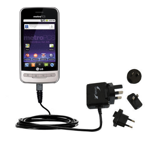 International Wall Charger compatible with the LG MS690