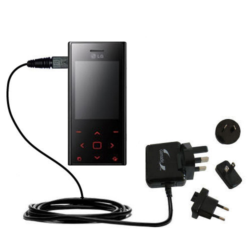 International Wall Charger compatible with the LG New Chocolate BL20