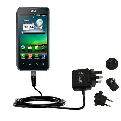 International Wall Charger compatible with the LG Optimus 2X