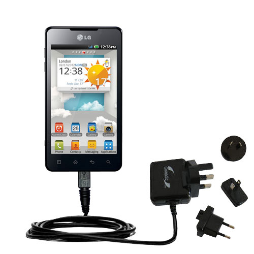 International Wall Charger compatible with the LG Optimus 3D Max