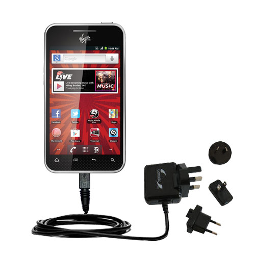 International Wall Charger compatible with the LG Optimus Elite