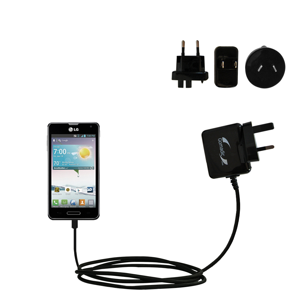 International Wall Charger compatible with the LG Optimus F3