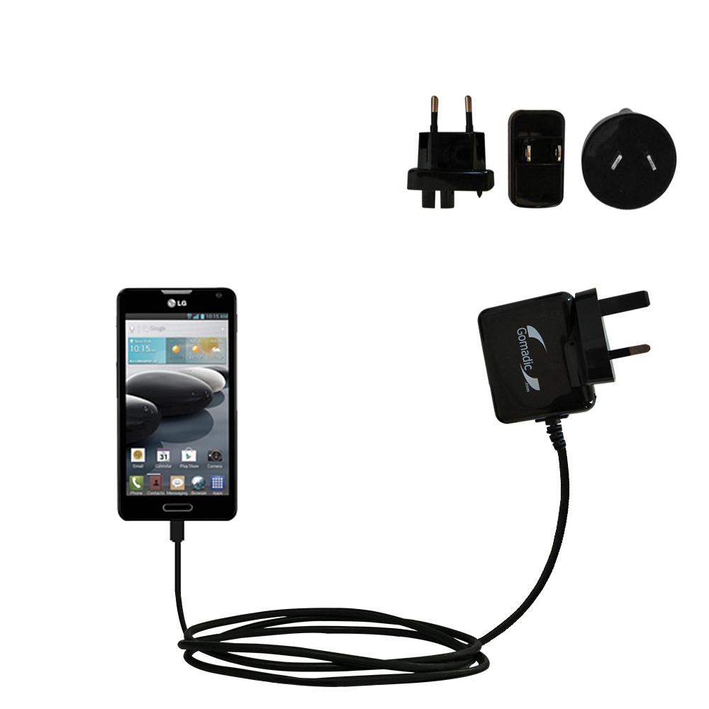 International Wall Charger compatible with the LG Optimus F6