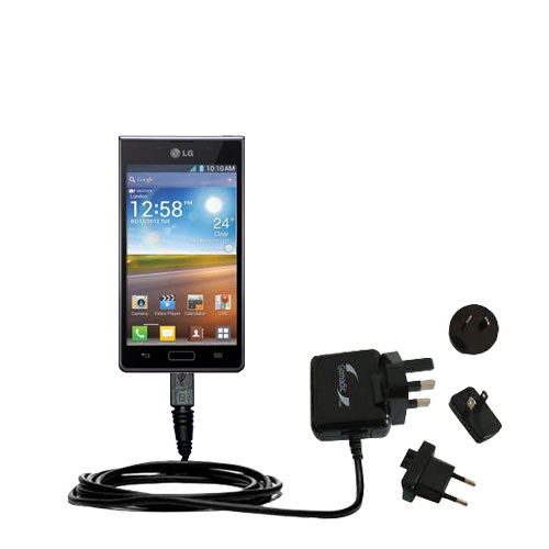 International Wall Charger compatible with the LG Optimus L5