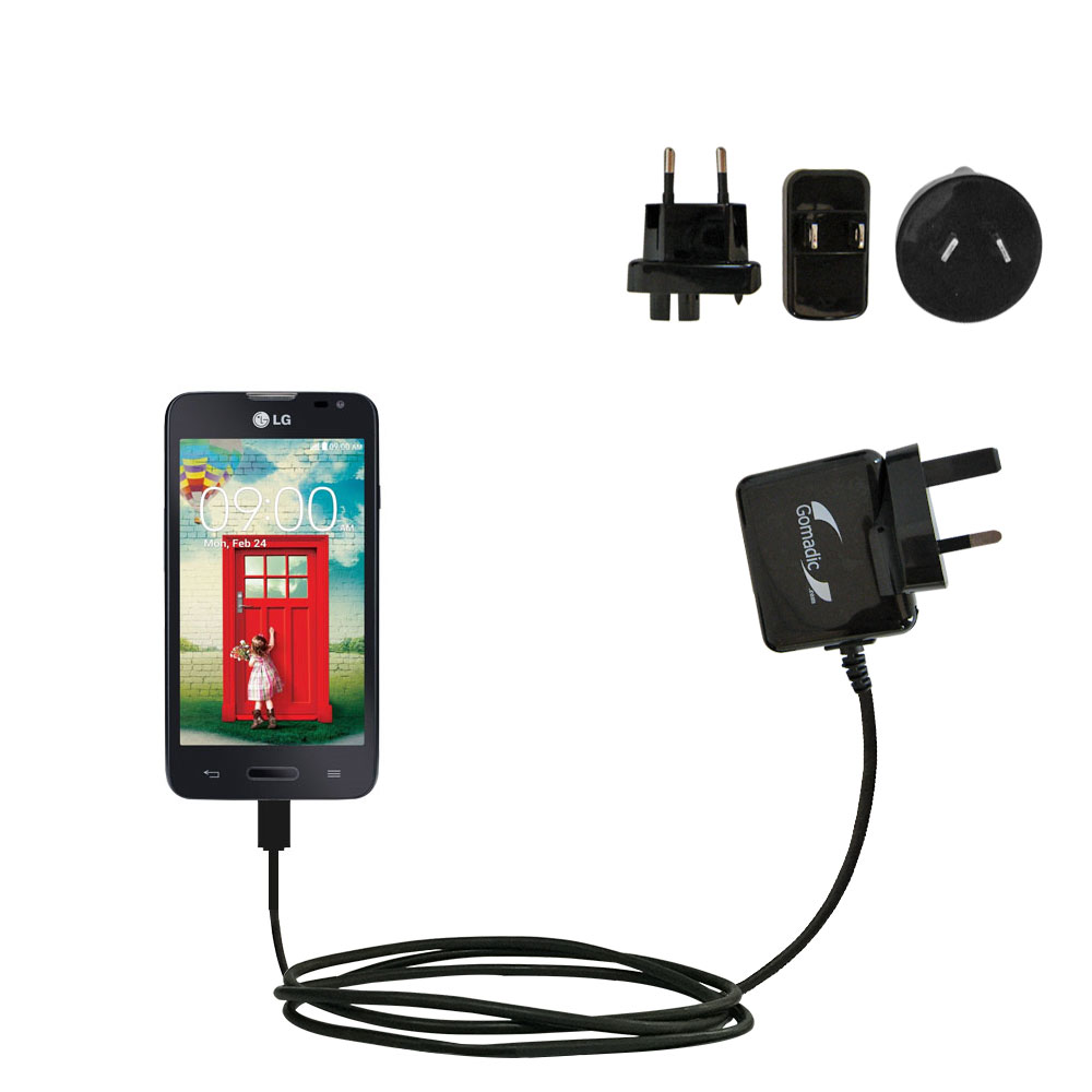 International Wall Charger compatible with the LG Optimus L70