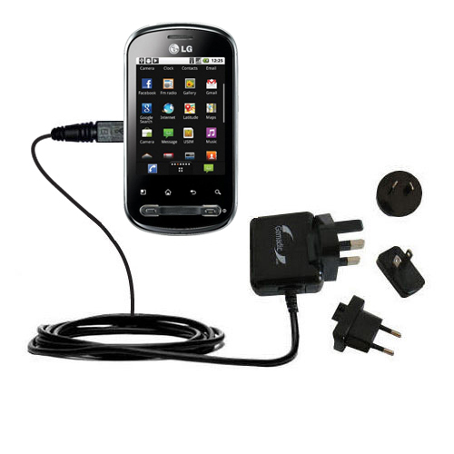 International Wall Charger compatible with the LG Optimus Me P350