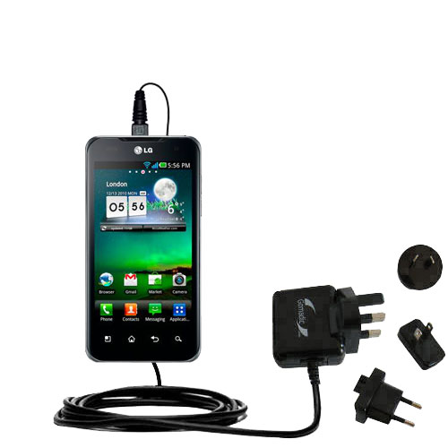 International Wall Charger compatible with the LG Optimus True HD