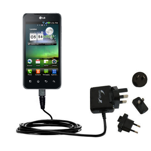 International Wall Charger compatible with the LG Optimus Two
