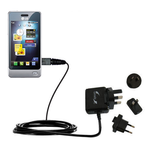International Wall Charger compatible with the LG Pop GD510