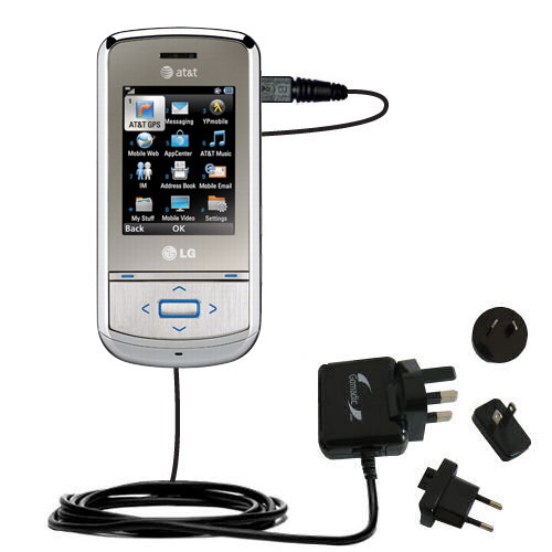 International Wall Charger compatible with the LG Shine II GD710