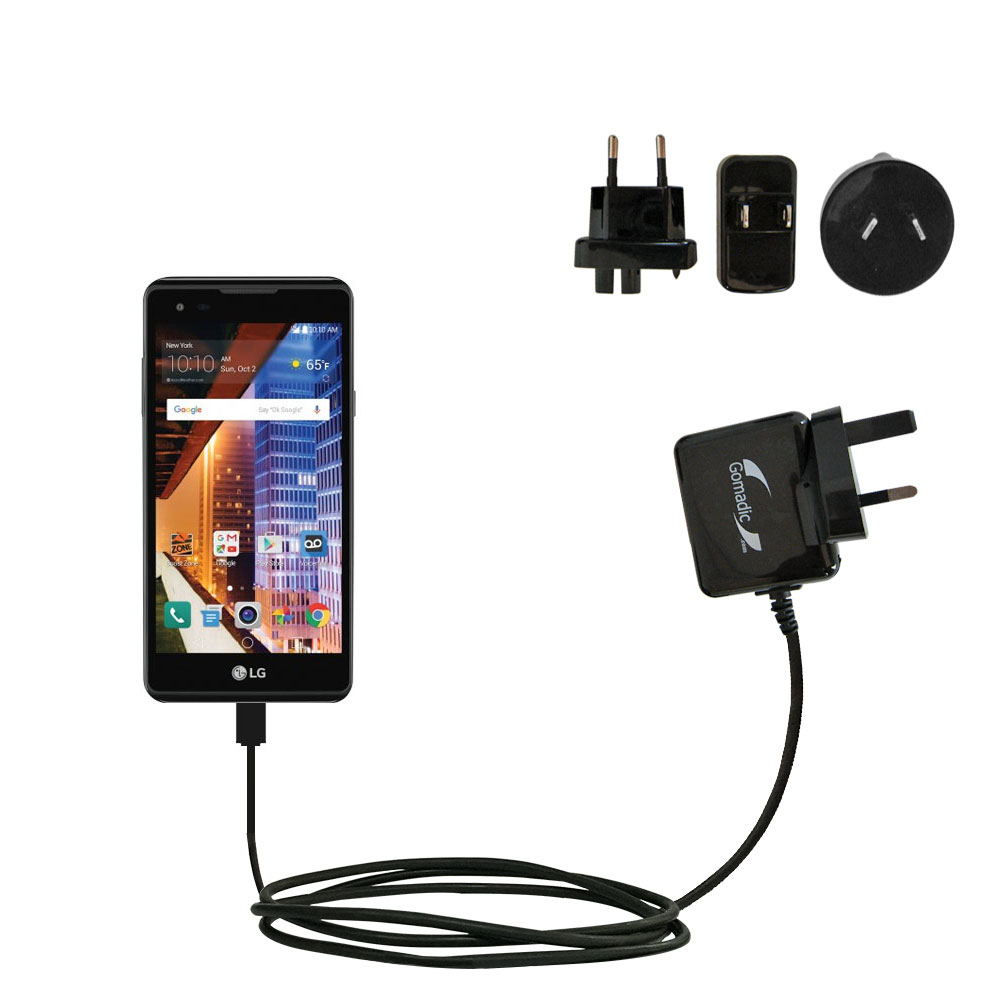 International Wall Charger compatible with the LG Tribute HD