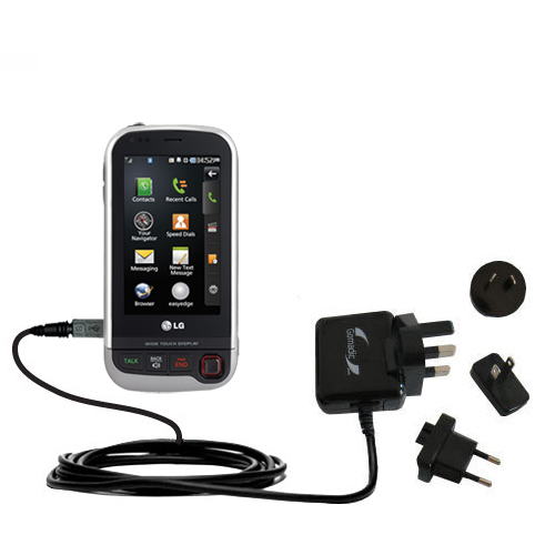 International Wall Charger compatible with the LG UX840